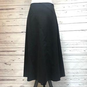 Black Talbots Petite A Line Skirt Stretch NWOT